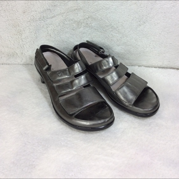 Aravon Shoes - Aravon Pewter Gray Women's Sandals Size 9